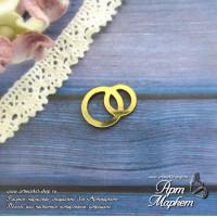 Свадебные кольца из золотого пластика,  Размер 2 х1,5 см