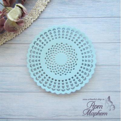 Салфетка круглая   Цвет: Голубой Диаметр 8 см