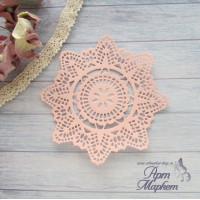 Салфетка   Цвет: Нежно-розовый Диаметр 9 см