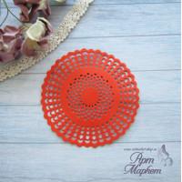 Салфетка круглая   Цвет: Красный Диаметр 8 см