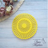 Салфетка круглая  Цвет: Желтый Диаметр 8 см