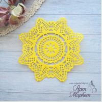 Салфетка Цвет: Желтый Диаметр 9 см