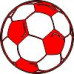 Мяч футбол РАЗМЕР:3 см х 3 см