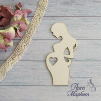 Беременная с сердечком РАЗМЕР: 9 х4,4 см