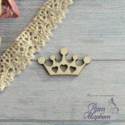 Корона с сердечками РАЗМЕР: 3х1,6 см