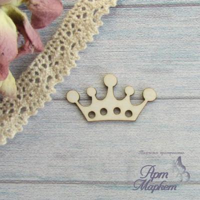 Корона с отверстиями РАЗМЕР: 3х1,6 см