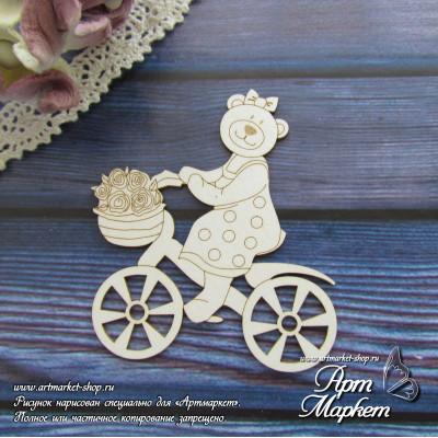 Мишка на велосипеде РАЗМЕР: 6 х 5,4 см