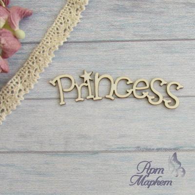 Princess полукругом надпись РАЗМЕР: 7х2,2 см