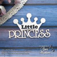 Princess c короной little  РАЗМЕР 7 х 4,2 см
