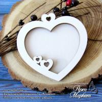 Заготовка для создания подвески Сердце 9х8,9 см