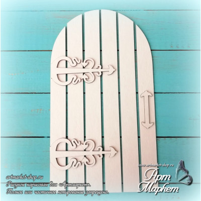 Заготовка д/открытки Дверь  1 ,  10,1х16,9 см