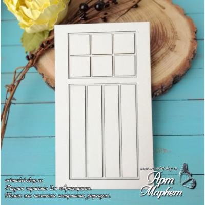 Заготовка д/открытки Дверь с подложкой 2 ,  10х17 см
