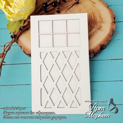 Заготовка д/открытки Дверь с подложкой 3 ,  10х17 см