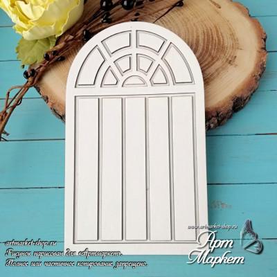 Заготовка д/открытки Дверь с подложкой 4 ,  10х17 см
