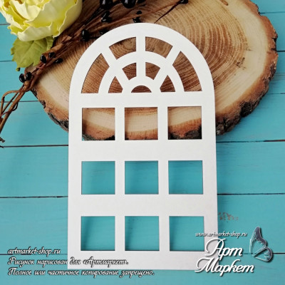 Заготовка д/открытки Дверь 3 ,  10х17 см