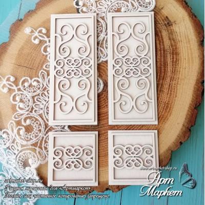Заготовка д/открытки Дверь ажур ,  10х17 см