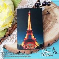 Карточка Париж 2, Фон: Полу-прозрачный, покрытие: шагрень РАЗМЕР: 8,6 х 5,5 см