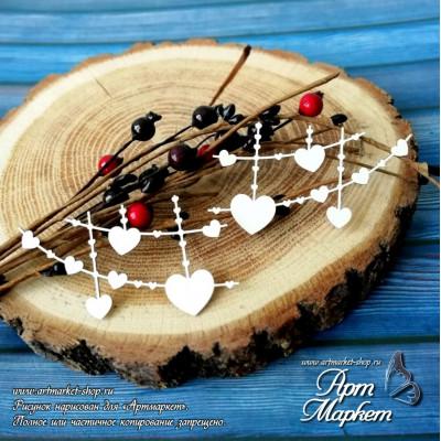 Фоновые гирлянды Сердца РАЗМЕР: 7,5х4,1см