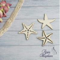 Морские звёзды 3шт.РАЗМЕР: 4,5см, 4см и 3,5 см