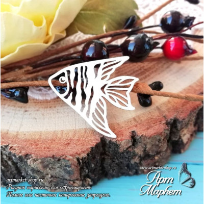 Чипборд Рыба РАЗМЕР: 2,9х2,7 см