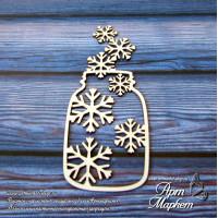 Баночка со снежинками РАЗМЕР: 8,5 х 3,5 см