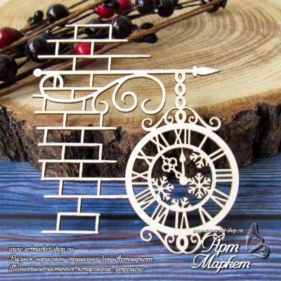 Часы на кирпичной стенке РАЗМЕР: 8 х 7 см