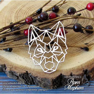 Волк геометрия РАЗМЕР:5,5х4,1 см