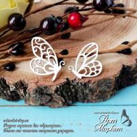 Бабочки, 2 шт РАЗМЕР: 2,3 х 2,1 см