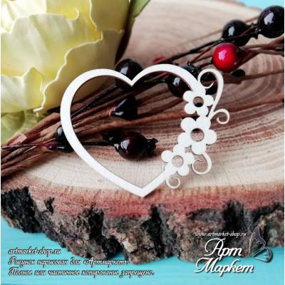 Сердце с цветами  РАЗМЕР: 5 см х 4 см