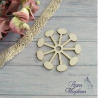 Цветок ассиметричный РАЗМЕР: 3х3 см