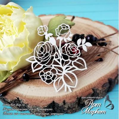 Чипборд Букет роз РАЗМЕР: 6,5х6,7 см