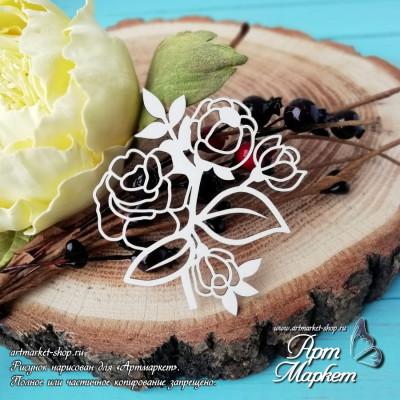 Чипборд Розы РАЗМЕР: 5,5х5,8 см