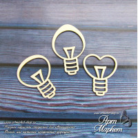 Набор лампочек Размер:: 2,8х3,3 см, 4,4х2,8 см, 3,7х2,8 см