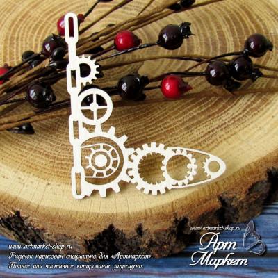 Уголок Стимпанк с цепью Размер:: 7 х 5,6 см