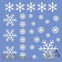 Трафарет снежинки РАЗМЕР: 14,6 х 14,6см