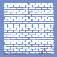 Кирпичная стенка трафарет  РАЗМЕР: 14,6 х 14,6 см