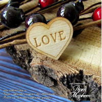 Сердце Love из фанеры Размер 2х1,7 см