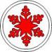 Фишка со снежинкой  Размер 2 х 2 см
