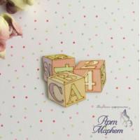 Кубики цветной чипборд 4х3,5 см