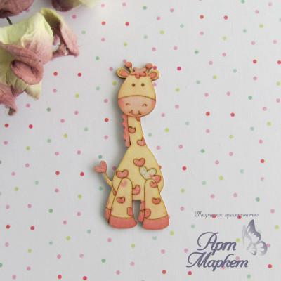 Жираф цветной чипборд 6х2,6 см