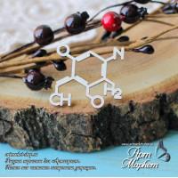 Химическая формулв РАЗМЕР: 3,9х3,4 см