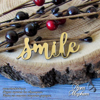 Smile, золото глянцевое (ПЛАСТИК) РАЗМЕР: 4,7х2 см