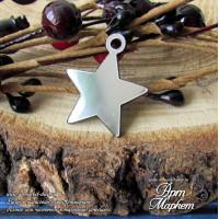 Звезда подвеска(ПЛАСТИК СЕРЕБРО) РАЗМЕР: 2,5х2,4 см