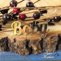 Baby(ПЛАСТИК ЗОЛОТО) РАЗМЕР: 4х2 см