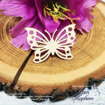 Чипборд Бабочка  РАЗМЕР: 8х6 см