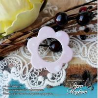 Чипборд с покрытием Цветок(РОЗОВЫЙ) РАЗМЕР: 3,4х3,1 см
