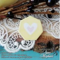 Чипборд с покрытием Фишка (Розовое сердце) РАЗМЕР: 2,5х2,4 см