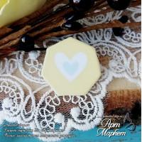 Чипборд с покрытием Фишка (Голубое сердце) РАЗМЕР: 2,5х2,4 см