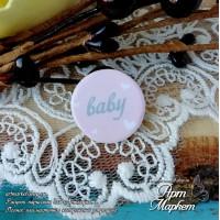 Чипборд с покрытием Baby(РОЗОВЫЙ) РАЗМЕР: 1,7х1,7 см