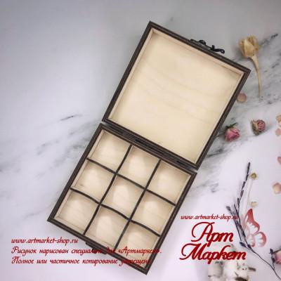 Коробка для конфет из фанеры